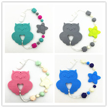 Buy BPA free Silicone Teething Pacifier clip baby silicone beads necklace pacifier chain baby necklace clips owl teether for $6.68 in AliExpress store
