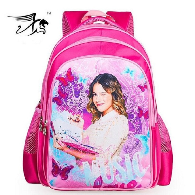 Новое поступление детей сумка виолетта школьные сумки для девочек дети рюкзак Schoolbag ...