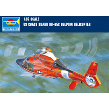 1x Trumpeter 05107 1/35 US Coast Guard HH-65C Dolphin Helicopter Model Kit
