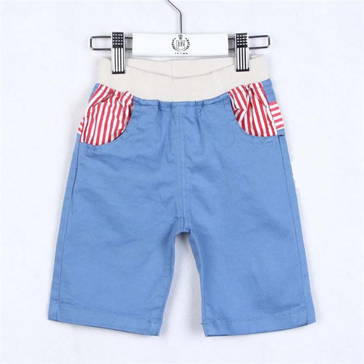 2015 summer stripe pocket child clothing boys capris 5 pants A1244(China (Mainland))