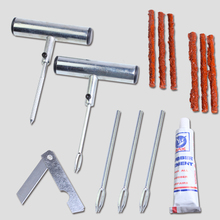 Professional motorcycle car tubeless tire puncture repair tool/kit, tire plug auto 5 strips(China (Mainland))