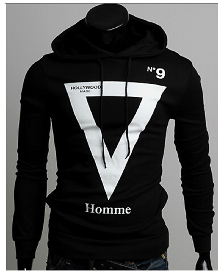 Drop Shipping Mens Autumn Winter Fashion print stylish Hoodies Hooded Collar Sweatshirts Casual Outerwear Jacket X-1346 - APPLETREE FASHION DESIGN CO.,LTD. store