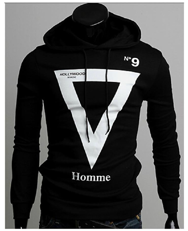 Drop Shipping Mens Autumn Winter Fashion print stylish Hoodies Hooded Collar Sweatshirts Casual Outerwear Jacket X-1346  -  APPLETREE FASHION DESIGN CO.,LTD. store