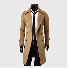 Double-breasted lengthen Contracted luxury cloth coat euramerican style men's M - XXXL atmosphere(China (Mainland))