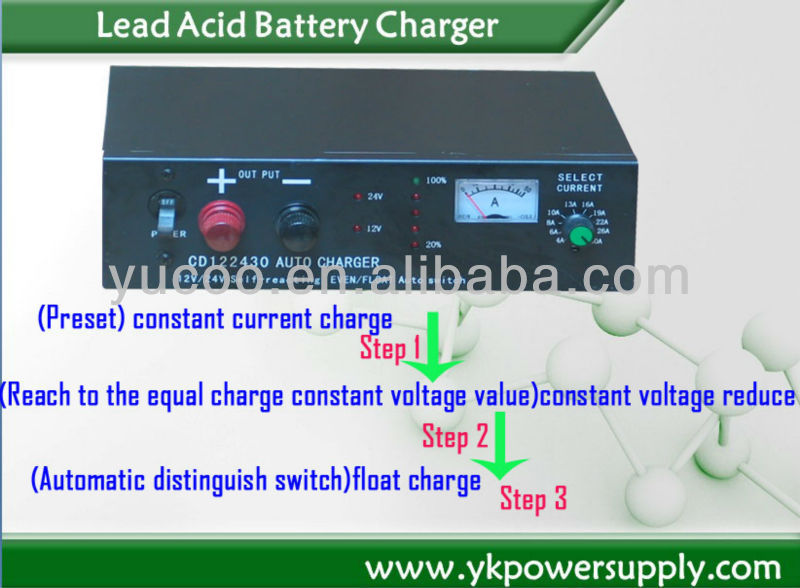switching power supply technology Lead Acid 24v 0~20A adjustable battery charger(China (Mainland))