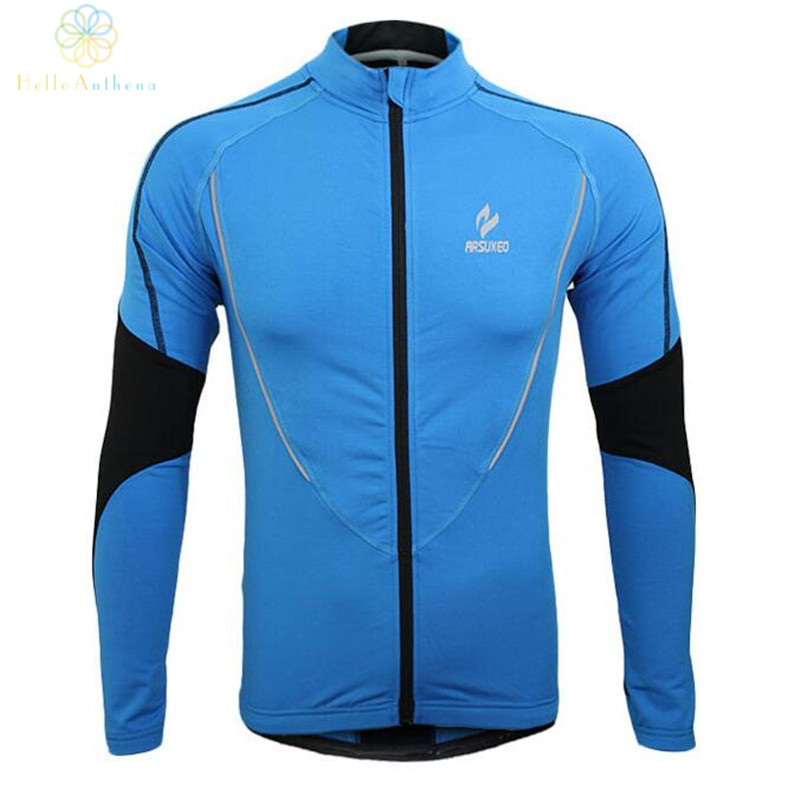 Winter Clothing Cycling Running Zip Fleece Men Long Sleeve Coat Jackets Outdoors Sports Fitness Tights 2016 Thermal Jersey 2017(China (Mainland))