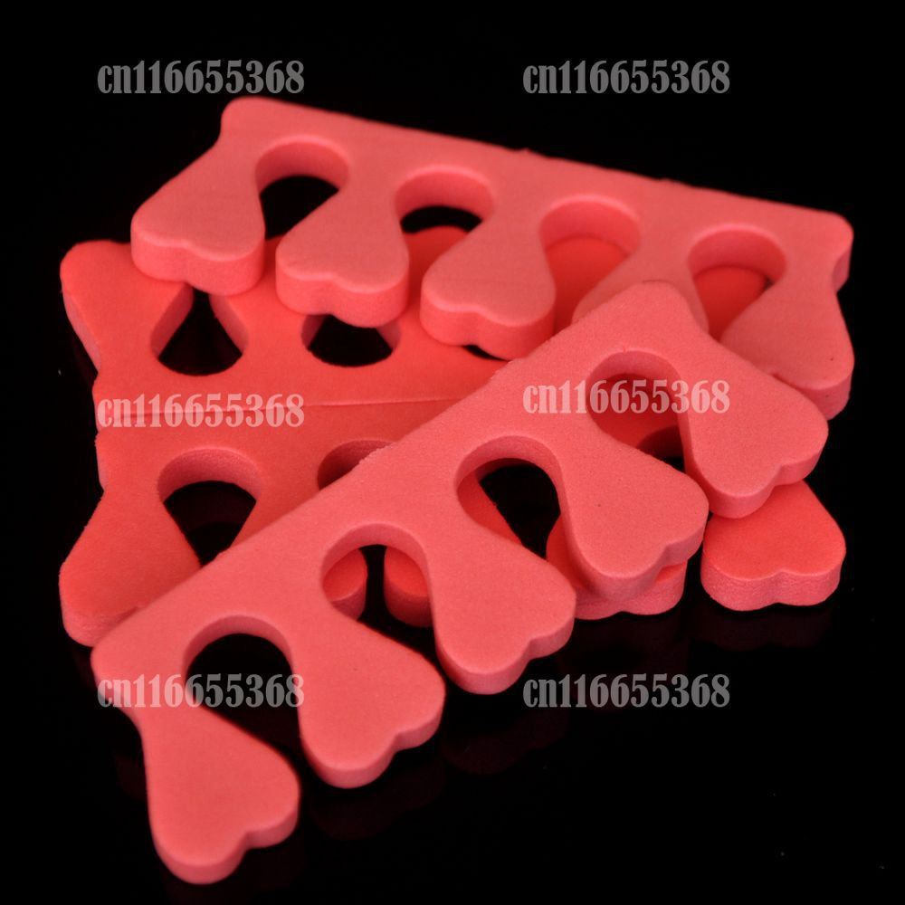100pcs Sponge Foam Finger Toe Separator Nail Art Salon Pedicure Manicure Tool Random Color(China (Mainland))