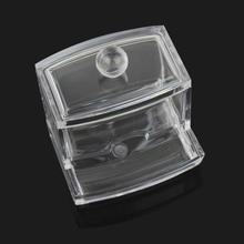 New Design Clear Acrylic Cotton Swab Organizer Stick Box Cosmetic Q-tip Holder Makeup Beauty Case(China (Mainland))