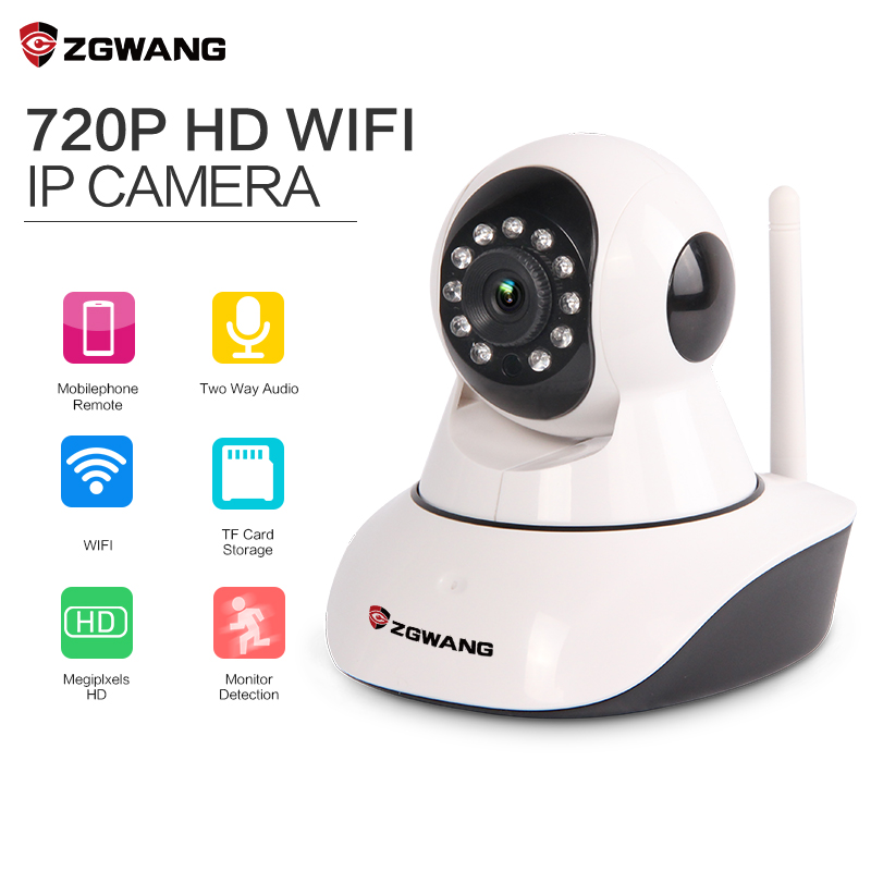 ZGWANG HD 720P Wifi IP Camera Wireless Network Home Security Camera CCTV Surveillance Mini Camera Support iPhone Android IP IR(China (Mainland))