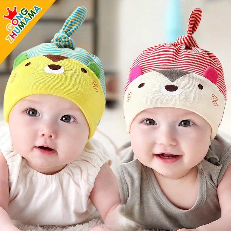 0-8 Months Newborn Sleeping Hats Bear Kids Caps Cute 5 Colors Brand Design Photograph Chlidren Clothing Accessories Wholesale(China (Mainland))