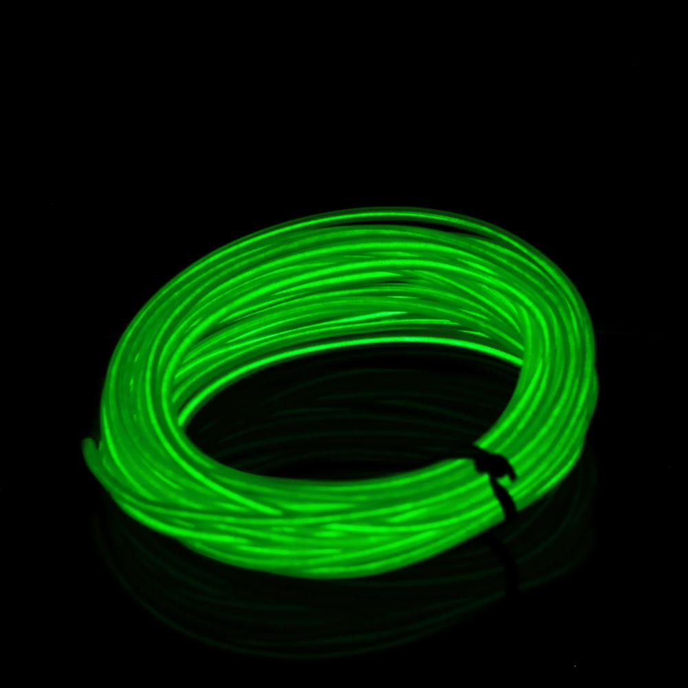 3M Flexible EL Wire Tube Rope Battery Powered Flexible Neon Light ...