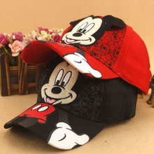 New Fashion Lovely Spring&Summer New Boys Girls Children Adjustable Hats Mickey Minnie Baseball Hip-Hop Cap Sun Hat Peaked Caps(China (Mainland))