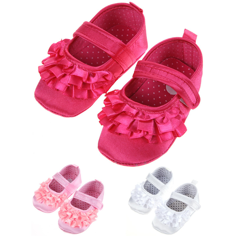White/Rose Red/Pink Newborn Baby Girl Shoes First Walkers Lovely Sneakers Infant Kids Girls Princess Shoes