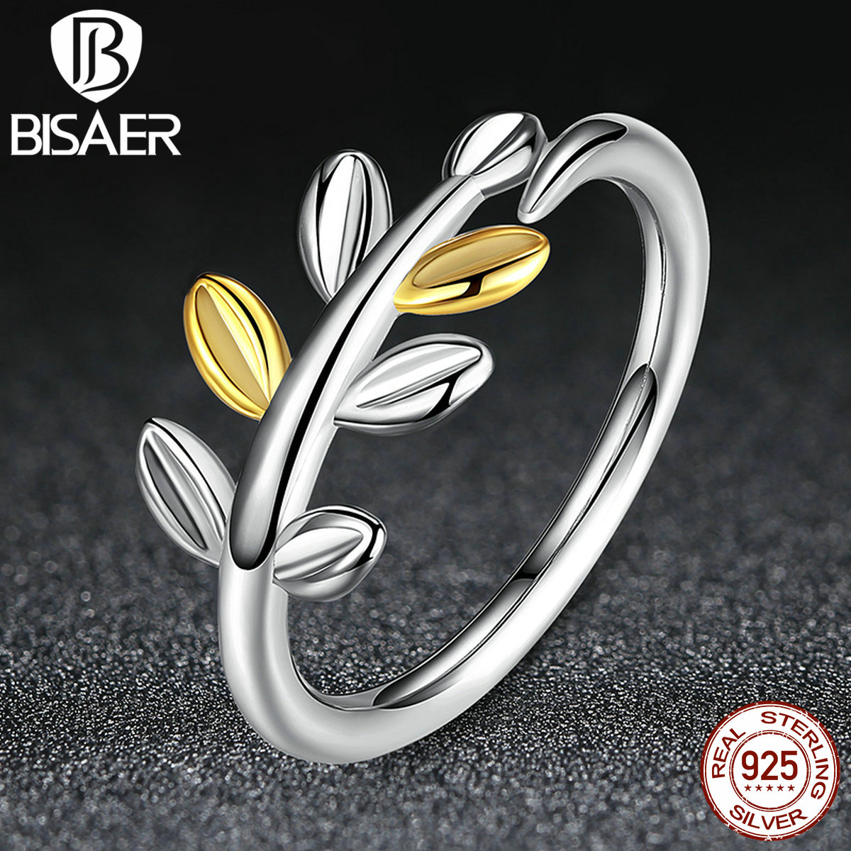 BISAER 2016 New Trendy Wedding Band Party Wholesale Clear CZ 100% 925 Sterling Silver Rings For Women Fashion Jewelry Size 7 8(China (Mainland))