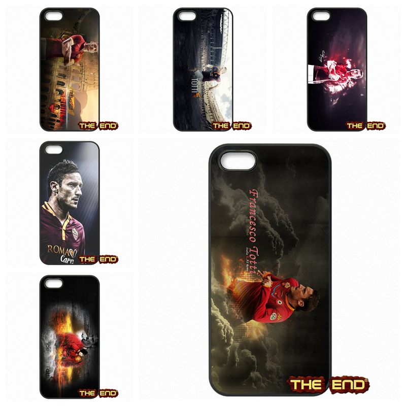Francesco Totti AS Roma Star Cheap Cell Phone Case Cover For Apple iPhone 4 4S 5 5C SE 6 6S Plus 4.7 5.5 iPod Touch 4 5 6(China (Mainland))