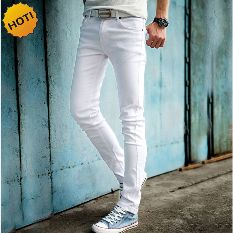Popular 2016 Slim Boys White Jeans-Buy Cheap 2016 Slim Boys White ...