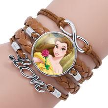 ديزني الأميرة الأطفال الكرتون سوار المجمدة إلسا جميل المعصم فتاة هدية الملابس والاكسسوارات الإسورة طفل يشكلون المجوهرات(China)