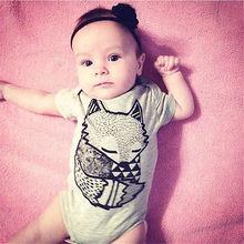 BABY BODYSUITS 100%Cotton Infant Body Short Sleeve Clothing Jumpsuit Printed Baby Boy Bodysuits