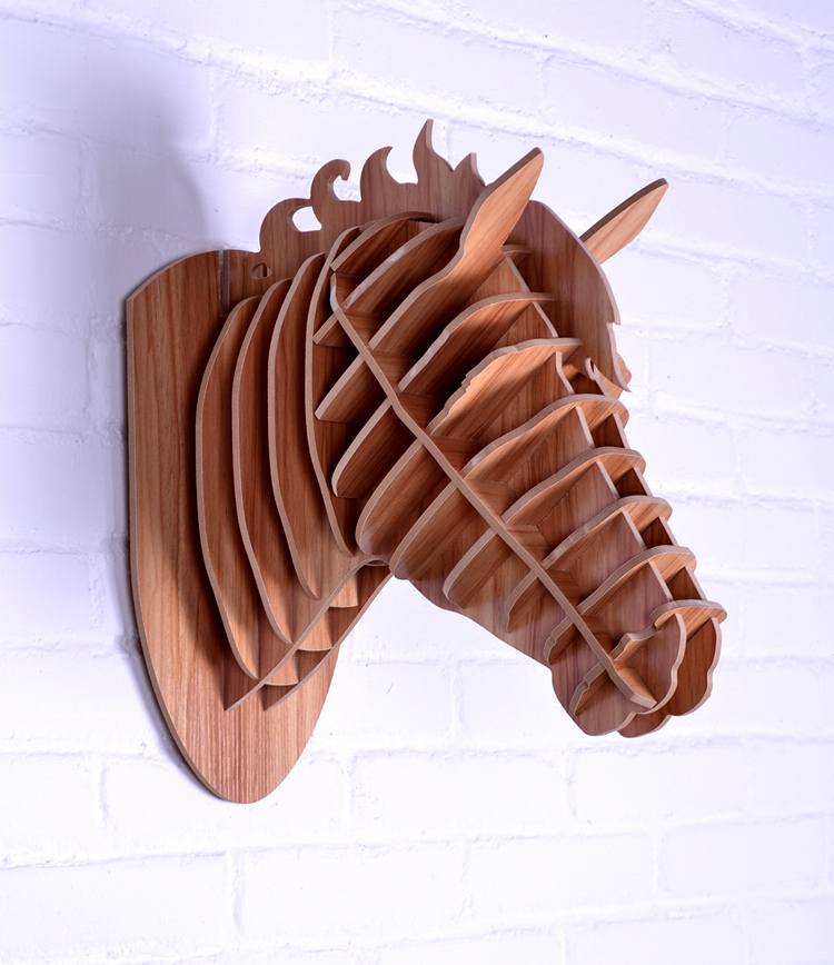 Wood horse wall decoration crafts horse animals head home for Decoration 3d free
