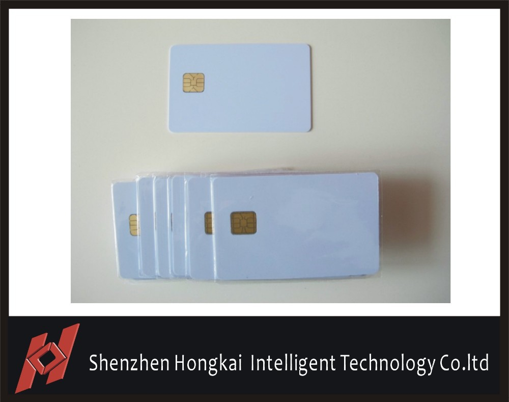 Factory Supplier 500PCS/Lot ISO7816 Contact AT24C16SC Chip Smart IC Blank PVC Card with 16K Memory(China (Mainland))