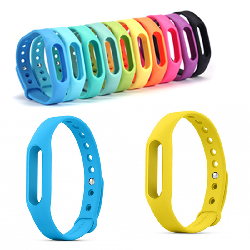 Xiaomi Miband strap werable Rubber wristband Wrist Strap TPSiV Accessories miband bracelet band belt for Miband with 10 colors(China (Mainland))