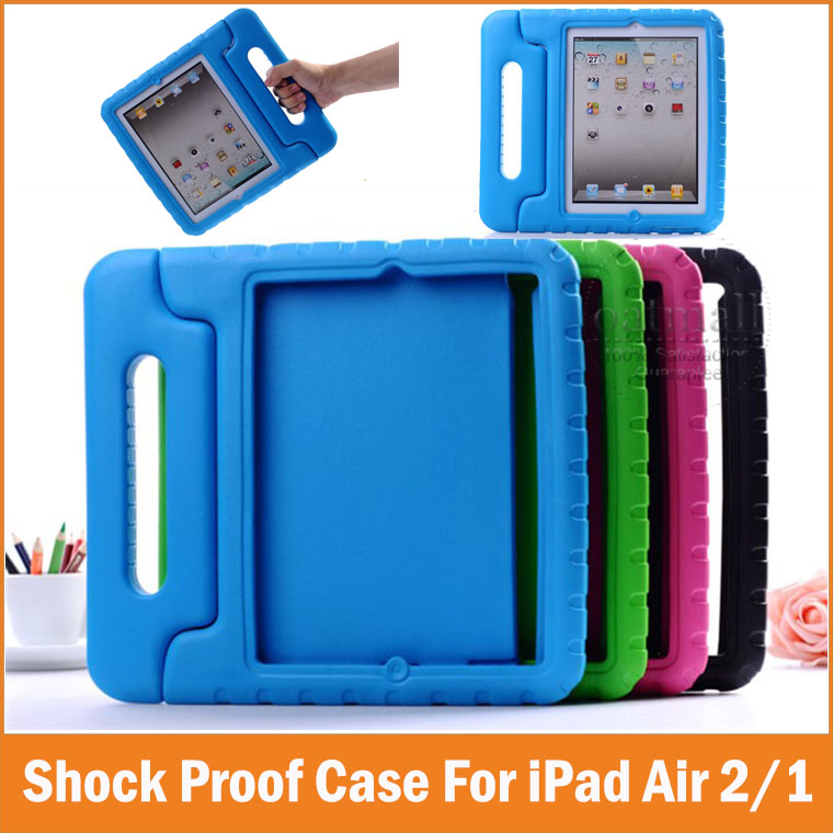 New Drop Shock Proof Smart Cover For Apple iPad Air 2 Cases Kids Children Safe EVA Silicon for iPad air2 1 Protective Cases(China (Mainland))
