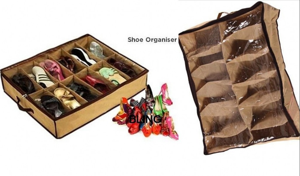 Transparent Folding Shoes Boxes Clear Plastic PP Storage Box Container Organizer(China (Mainland))