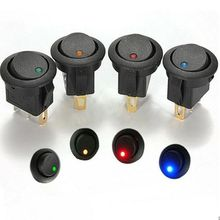 4Pcs Car 12V Round Rocker Dot Boat LED Light Toggle Switch SPST ON/OFF Sales(China (Mainland))