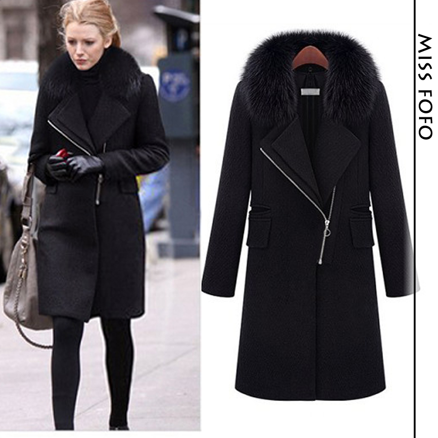 Black Winter Coat Womens Photo Album - Reikian