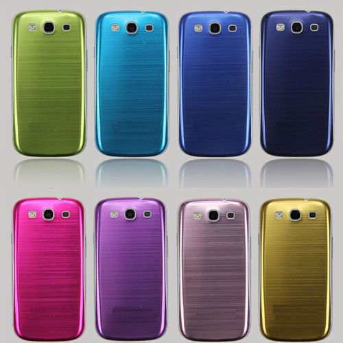 Brushed Metal Aluminum Cover Case Battery Door Back ForSamsung Galaxy S3 I9300--Free shipping(China (Mainland))