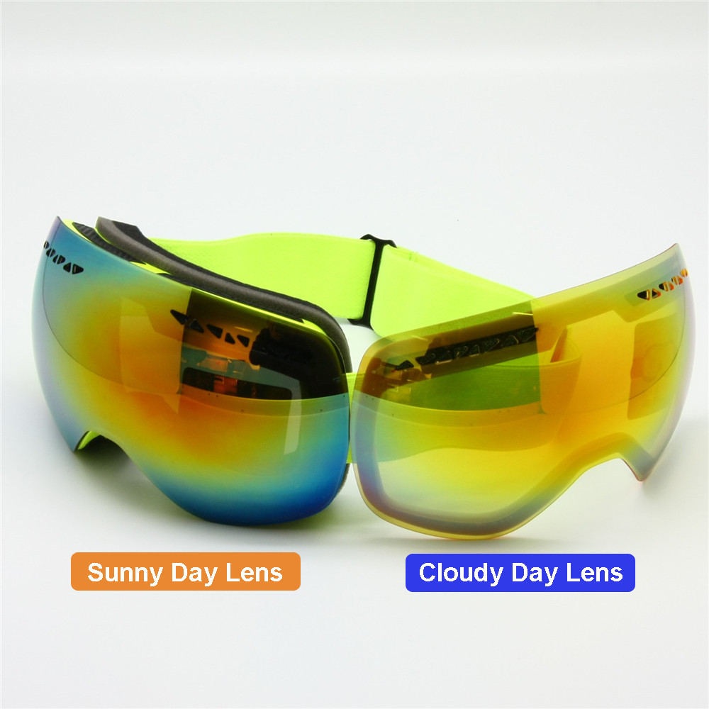 ski goggles with or cloudy day lens switchable diy