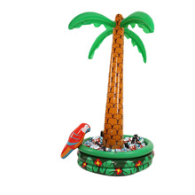 Inflatable Coconut Palm Tree Drinks Cooler Ice Bucket Summer Beach Decorations Swimming Pool Party Favors 1.8 M Hawaii Series