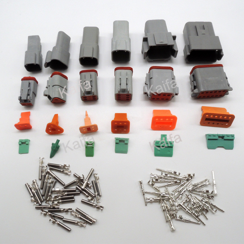 60 sets 6 models Deutsch DT06/DT04 2/3/4/6/8/12 Pin Engine/Gearbox car auto waterproof electrical connector(China (Mainland))