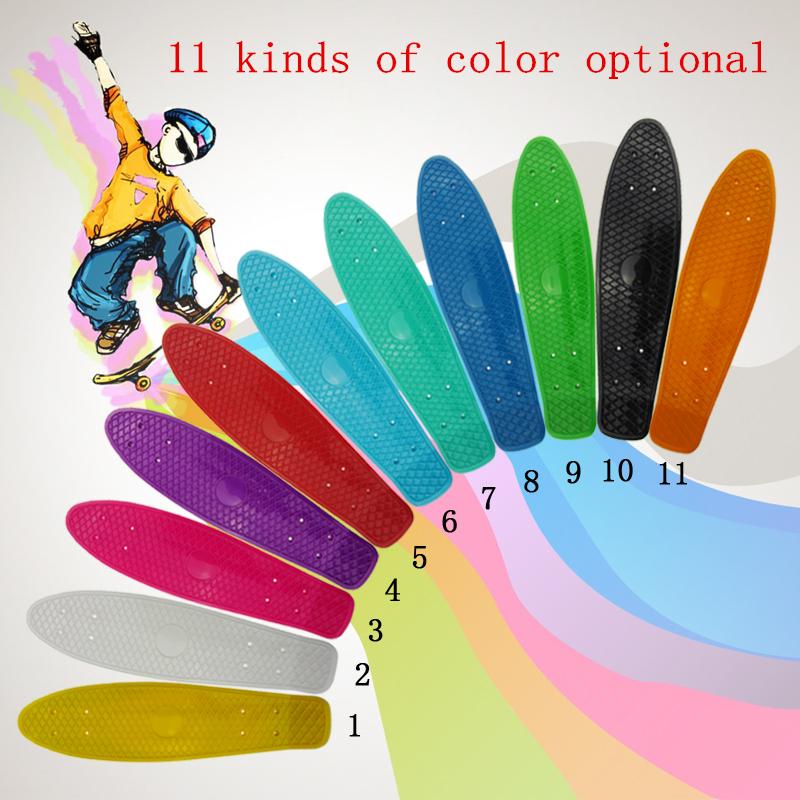 21 inch Pastel Skate Board Scooter Style Colorful Decks Retro Cruiser Complete Skateboard Bearing-ABEC-7 Longboard