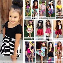2015 Summer new clothing Baby Girl's clothing sets Fashion Children dresses T-shirt and skirt set retail and wholesale(China (Mainland))