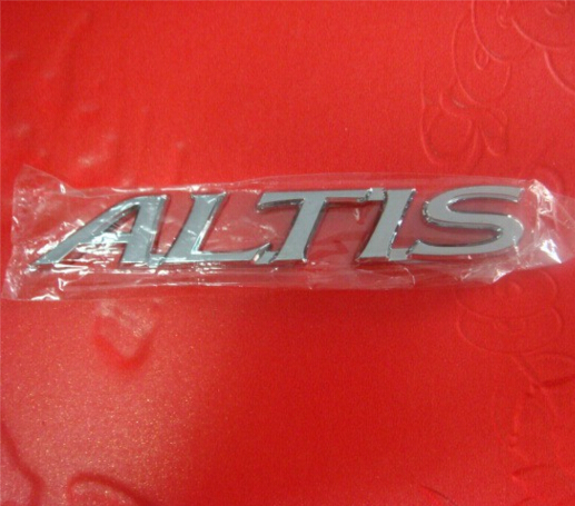 1pcs High quality TOYOTA COROLLA ALTIS logo Auto accessories of car sticker badge car styling(China (Mainland))