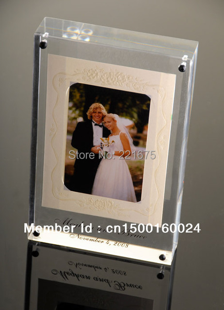 free shipping Magnetic 4x6 Acrylic photo  frame wedding gift souvenir giveaways Children gift