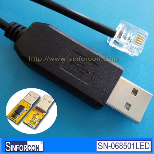 FT232 USB RS485 to RJ11 4P4C cable, USB RS485(China (Mainland))