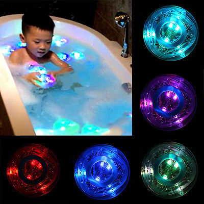 2015 KIDS BATH LIGHT SHOW COLOUR LED LIGHT TOY PARTY IN THE TUB BATH TIME FUN GIFT kids bathroom accessories(China (Mainland))