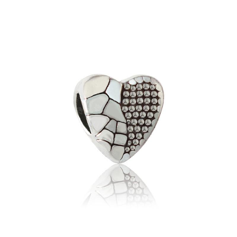 Free Shipping Sliver Bead Charm Love Shape Bracelet Accessories Beads Fit Pandora Bracelets & Bangles DIY Jewelry SPB135(China (Mainland))
