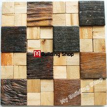 Ancient wood mosaic tile NWMT168 natural wood mosaics kitchen wall tile backsplash wood pattern