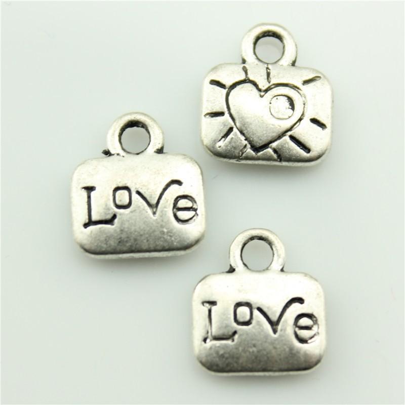 2014 New Fashion Hot Sale 30pcs love charms antique silver tone pendant B10348.jpg(China (Mainland))