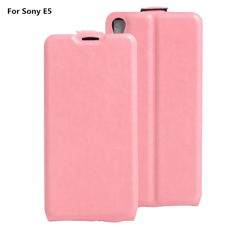 Sony E5 Vintage Flip Wallet PU Leather Phone Cover Case Coque Xperia E 5 Card Slots Holder Luxury Retro Bag  -  Wonder Day Accessioes Store store