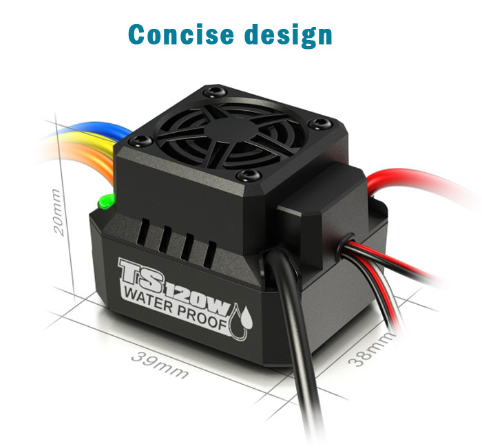 New arrival spare part skyrc ts120w 120a ip67 waterproof for Brushless motor design software
