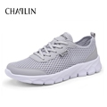 Men Mesh Breathable Summer Zapatos White Round Toe Casual Shoes Spring Comfortable For Male Cool Walking