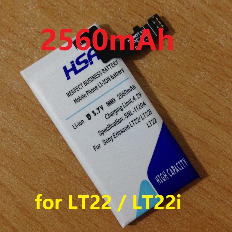 High capacity 2560mAh Phone Battery For Sony Xperia P LT22 LT22I AGPB009-A001