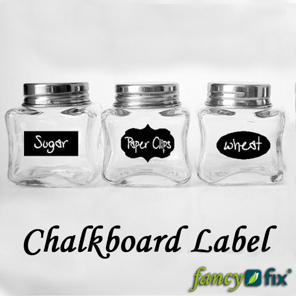 Fancy-fix Cute Chalkboard Sticker Labels Vinyl Kitchen Pantry Organizing Home Sticker 3 Design 36 Decals 1 Free Chalk B12(China (Mainland))