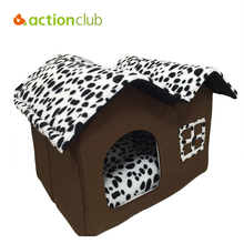 Actionclub Dog House New 2016 PP Cotton Folding Dog Bed For Large Dog House With Mat Pets Product Cats House 2016 New Style(China (Mainland))