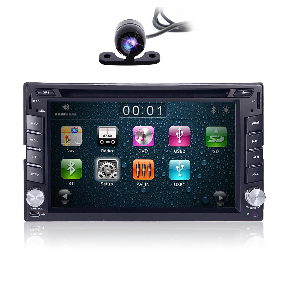 "Camera GPS Navigation6.2"" 2 Din Car DVD Player AUXIN HD 1080P 3G SWC VCMD iPod Radio FM AM RDS BT iPod Game DVD USB SD(China (Mainland))"