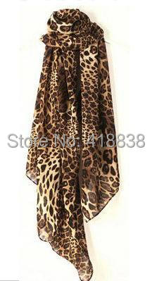 new classical 2015 spring vintage chiffon scarf, leopard pattern, 160*70cm women casual scarves, wrap shawl, - Edward con's store